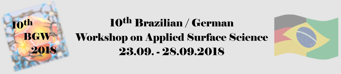 10th Brasilian German Workshop on Applied Surface Science